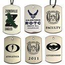 Custom Etched Soft Enamel Dog Tag on Stainless Steel