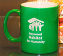 Custom Green Nuvo Coffee Mug, 3 13/16