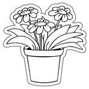 Custom Flowerpot Notekeeper Magnet- 20 Mil Process Color (3