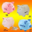 Custom White Ceramic Collectible Mini Cute Piggy Bank, 3.75