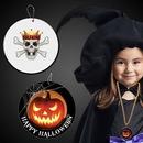 Custom Halloween Pumpkin Plastic Medallions - 2 1/2