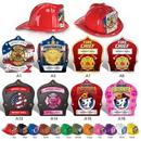 Plastic Fire Hats w/ Custom Imprinted Paper Shields