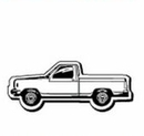 Custom Pickup Truck Notekeeper Magnet- 35 Mil Process Color (1-3/8