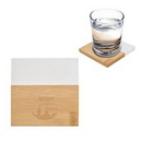 Custom Marble And Bamboo Coaster, 4