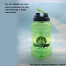 Custom Jumbo Sports Water Bottle, 2.1 LT/ 73 OZ *Customize this Bottle*, 10.5