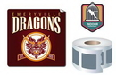 Custom Outdoor-Permanent Square Shape Sticker/Decal Roll, 4