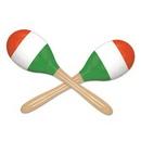 Custom Red, White, and Green Maracas, 8