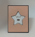 Custom Leather Craft Star Photo Frame - ON SALE - LIMITED STOCK, 6.75