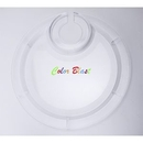 Custom Round Party Plate with Built-in Stemware Holder