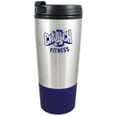 Custom 16 Oz. Stainless Steel Tumbler w/Plastic Liner Mug Blue