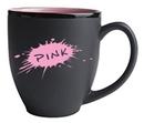 Custom 16 Oz., Hilo Bistro Mug (Matte Black/Pink)