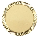 Custom Gold Plated Sandblasted Corporate Pin w/Diamond Engraved Spiral Border (1
