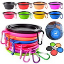 Custom Collapsible Soft Silicone Pet Dog Bowl, 5 1/8