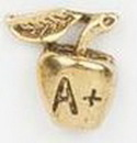 Custom Apple with Bird Stock Cast Pin