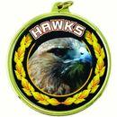 Custom TM Medal Series w/ Hawks Scholastic Mascot Mylar Insert
