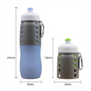 Custom Collasiple Silicone Bottle with Carabiner, 9 1/4