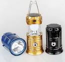 Custom LED Solar Power Rechargeable Camping Lantern, 5 1/8