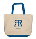 Custom Lined Jumbo Tote Bag with Contrasting Handles/Gusset, 20