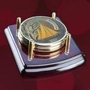 Custom Mayfair Coasters - Set of 2 Rosewood/Gold, 4.0