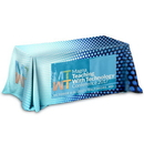 Custom 3-Sided Throw Style Table Covers Full Color Dye Sublimation Imprint - Fits 8 Foot Table, 96