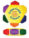 Custom Crayo-Craze 6 Color Crayon Wheel w/Full Color Decal, 2 7/16