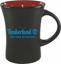 Custom 10 oz. Black Matte Mug with Orange or Red Inside, 3 1/2