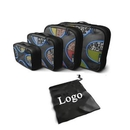 Custom 4 Set Packing Cubes with Laundry Bag, 17.5