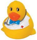 Custom Rubber Smart Doctor Duck, 3 1/2