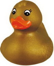 Custom Rubber Gold Duck, 2 3/4