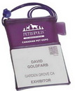 Evans Custom Trade Show Badge Holder, Screen Printed, 6 1/2