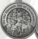 Custom Twelve Days Of Christmas Mini Ornament (Day 11 - Eleven Pipers Piping), 1.875