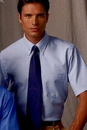 Custom Light Blue Men's Short Sleeve Executive Button Down Shirt