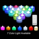 Custom 24Pcs Color Changing LED Candle with Remote Control