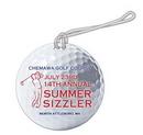 Custom Plastic Golf Ball Bag Tag, 3 7/8