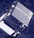Custom Crystal Standing Cube Paper Weight (3-1/8