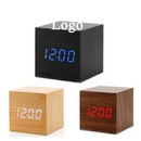 Custom Cube Wood LED Alarm Clock, 2.48