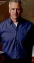 Custom Denim Blue Men's Short Sleeve Geometric Micro-check Shirt
