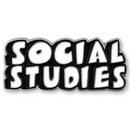 Custom Social Studies Word School Pin, 1 1/4