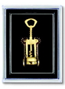 Custom Gold Plated Wing Corkscrew Lapel Pin