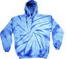 Custom Spider Baby Blue Tye Dye Pullover Hoodie