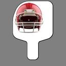 Custom Hand Held Fan W/ Full Color Red Football Helmet (Front), 7 1/2