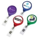Custom Color Chrome Jumbo Round Badge Reel (Label), 1.5