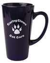 Custom 16 Oz., Large Cafe' Mug (Cobalt Blue)