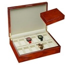Custom Mahogany Wood 12 Watch Case w/ Rosewood Finishing, 13