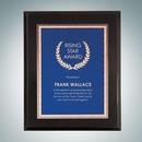 Custom High Gloss Black Wall Plaque - Blue Victory Plate - Large, 12