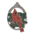 Custom 3D Gallery Print Collection Full Size Ornament (Cardinal & Holly), 2.25