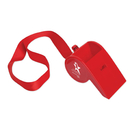 Custom Red Giant Whistle on a Lanyard
