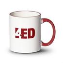 Custom Tuckson Mug - 11oz White/Red