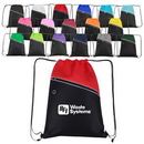 Custom Non-Woven Two-Tone Drawstring Backpack, 13.50