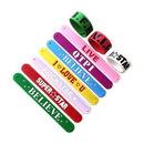 Custom Silicone Slap Wristbands, 9 1/2